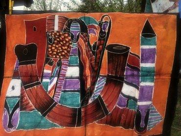 Slike | Beograd: Slike iz Afrike na batiku. Originalne i unikati. Boje natural u skladu