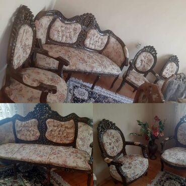 2 divan+4 kreslo 700 azn satilir.təmiz qoz agacindan.ərazi bileceri