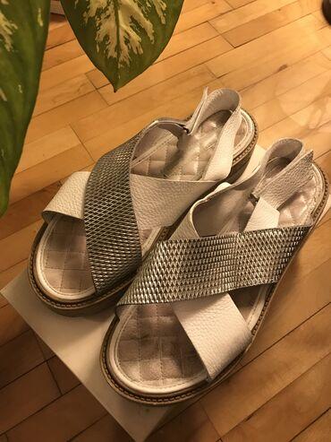 Ženske sandale Antonella Rossi -shoe star belo srebrne sa malom