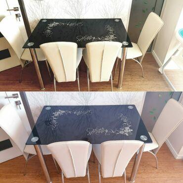 Digər - Azərbaycan: Metbex stolu.Hec bir problemi yoxdu.Açilmir. 4 stulu var