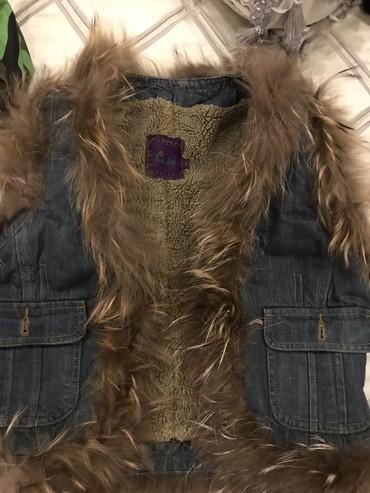снут в Кыргызстан: Стильный ! Теплый ! Жилет ! Натуральный мех снаружи и снутри! С джинса