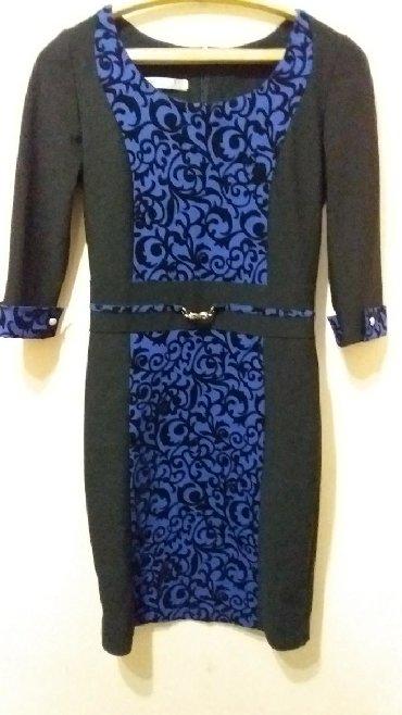 длинные шифоновые платья с рукавами в Кыргызстан: Симпатичное платье,рукав 3/4. 44 размер.В идеале