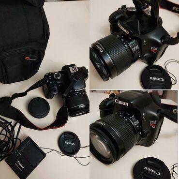 Canon fotoaparat satilir. Hec bir problemi yoxdu. Istifade olunmur