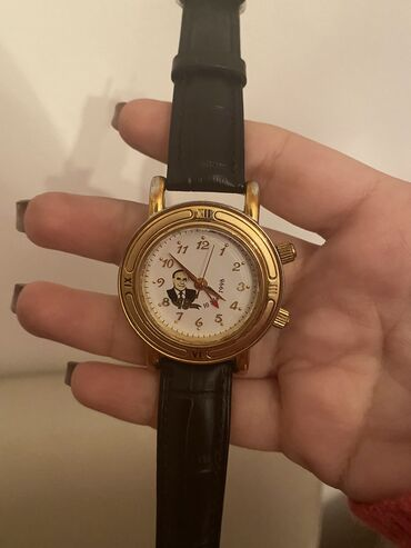 bu azlitrajlı avtomobili dəyişirəm - Azərbaycan: Antik saat.Heyder Eliyevin 75-illik yubileyi munasibeti ile