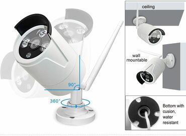 Elektronika - Odzaci: Kamera IP WIFI Cam - 4 komada, HD rezolucija, sa adapterima