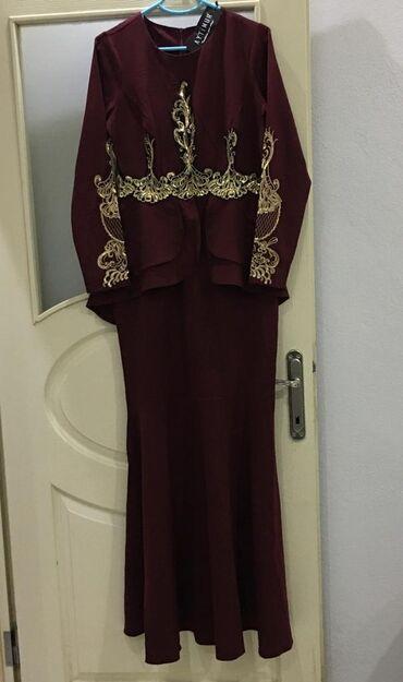 платья вечерние in Кыргызстан | МАТЕРИНСКИЕ ПЛАТЫ: Шикарное вечернее платье, украшенное золотой вышивкой, бордового