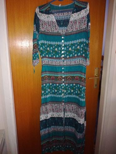 Sarena letnja haljina sa 3/4 rukavima . Nova, nije nosena  u L - Belgrade
