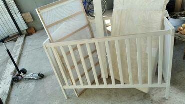 бу детские кроватки в Кыргызстан: Продается б/у детская кроватка(изготовлена из бука)Цена 4000