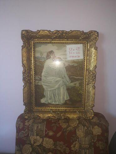 Gobleni - Beograd: Goblen Ifigenija original viler sitan rad,viensko staklo vienski