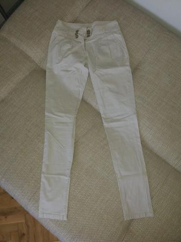 Prolece leto - Srbija: Lepe lagane pantalone bež boje, kao nove. Broj M. Moze odgovarati i