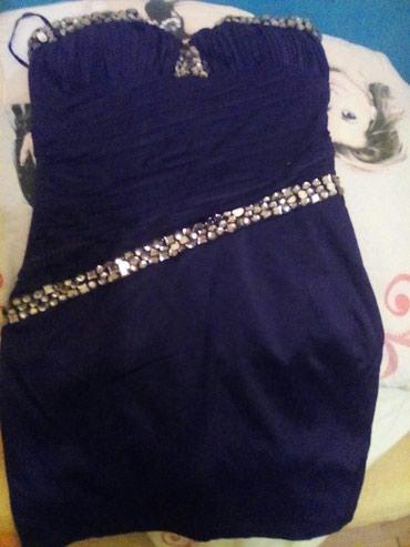 Haljina svečana malo nošena sa cirkonima idealna za svečane prilike - Vrsac