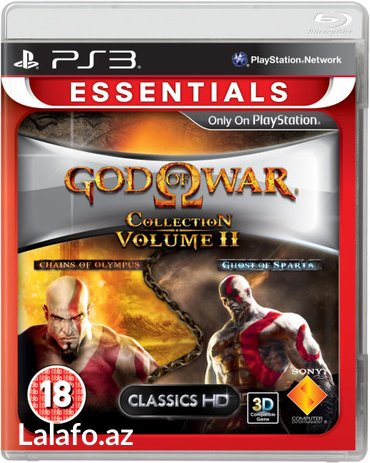 God of war ps3 oyunu, bir diskde iki oyun в Bakı