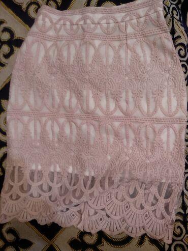 Мини юбка отличного качества, нежно- розового цвета