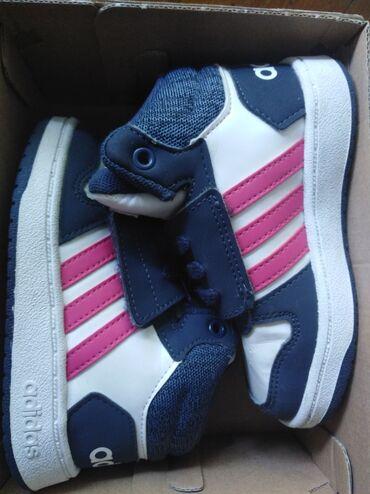 Decija kolica - Srbija: Patike Adidas, decije broj 23,par puta obuvene, detetu male, na kutiji