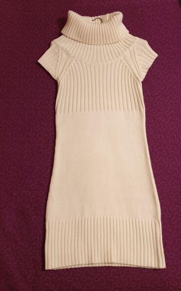 Zimska haljina, medena, ocuvana, par puta nosena. Velicina s, boja je