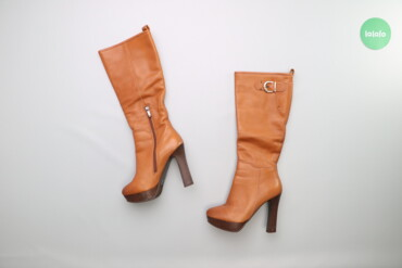 Женская обувь - Украина: Жіночі стильні чоботи на високих підборах, р. 38    Довжина устілки: 2