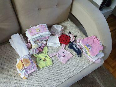 Dečija odeća i obuća - Cacak: Paket garderobe za bebu devojcicu velicina od 62-68. Cena 4000 za
