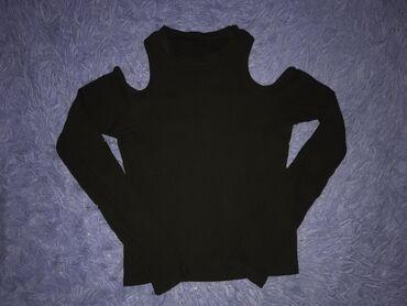 Чёрная кофта с открытыми плечами Размер XS/S