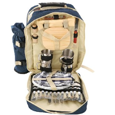 Сумка- рюкзак для пикника с посудой mimir на 4 персоны +бесплатная