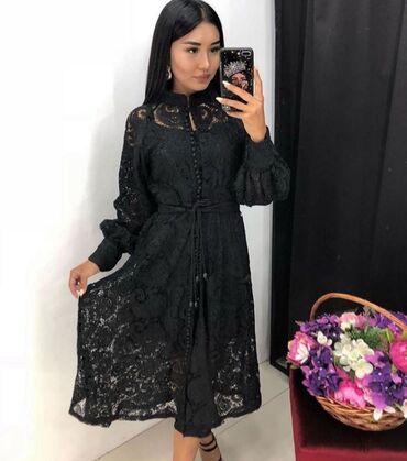 пышное кружевное платье в Кыргызстан: Кружевное платья французской длины Платье на прокат 800 сом на 3 дня