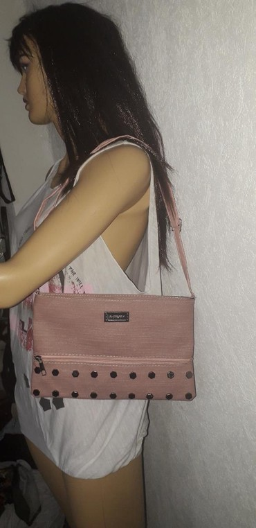 Tašne | Leskovac: Nova torbica puder roze. sa nitnama širina 30 cm. dubina 20 cm