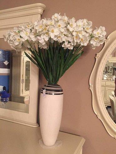 Все интерьерное и красивое-ваза +нарцисы (25 шт),цена за все. в Бишкек
