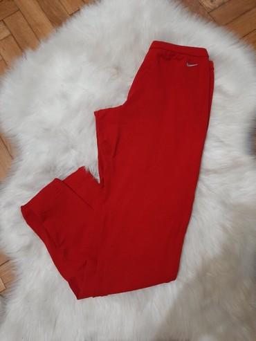 Nike-helanke - Srbija: Nike crvene pamucne helanke dryfit original, duzina je 7/8, odgovaraju