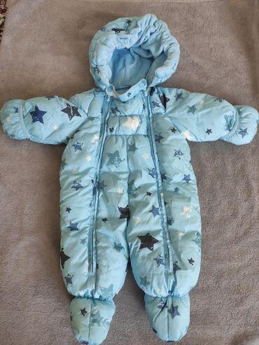 Продаю б/у комбинезон зимний теплый на малыша. Размер 68см. Состояние
