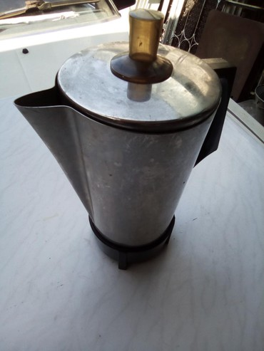 газовые кофеварки в Кыргызстан: Электро кофеварка изнержавейки пищевойпроизводства СССР.Чистая и в