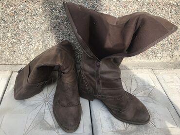 Женская обувь в Кант: Женские сапоги на осень кожаные