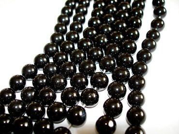 бусы цепочки подвески в Азербайджан: Оникс . Бусы из натурального Черного Оникса . Диаметр 8 мм . Длина 40