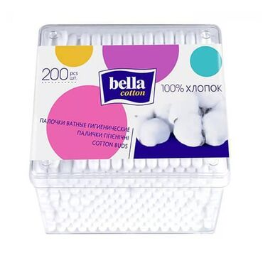 Bella italia бишкек - Кыргызстан: Ватные палочки Bella Cotton гигиенические 200 шт. контейнер Для очищен
