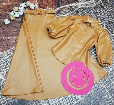 женское платье 56 размера в Кыргызстан: Мега крутые двоечки под Zara рубашка + юбка 3 размера в линейка s