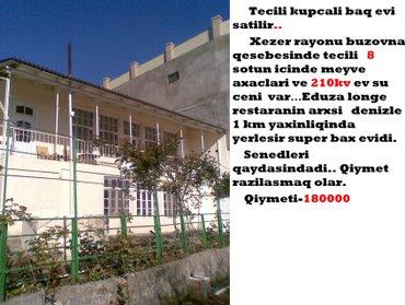 Bakı şəhərində Tecili kupcali baq evi satilir.. Xezer rayonu buzovna qesebesinde