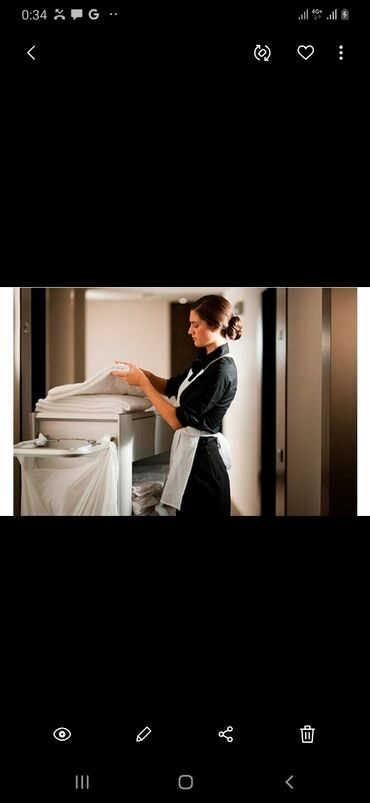 работа в отеле бишкек в Кыргызстан: Срочно требуется горничная в отель!Требования : чистоплотная, аккуратн