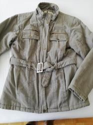 Zimska-jakna-nike-cm - Srbija: SNIŽENO - Zimska keper jakna, topla, dužina 68 cm, maslinastozelena