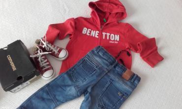 -. Φούτερ ζακέτα benetton ελάχιστα φορεμένη για παιδάκι 3-4 ετών 8