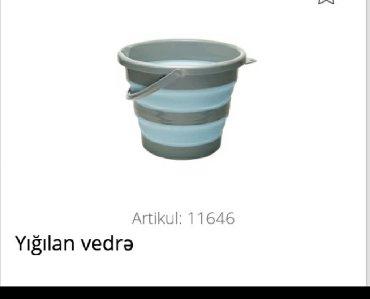 Vedrələr Azərbaycanda: Yığılan vedre