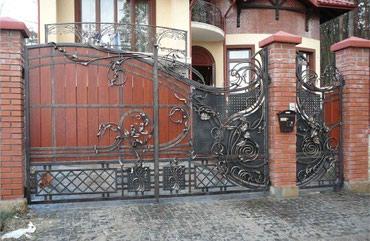 Ворота калитки навесы -проект изготовление .опыт с1995г в Бишкек