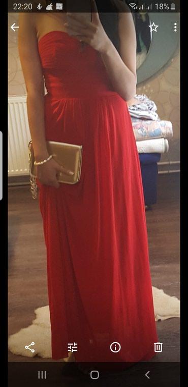Elegantna,duga haljina,jednom obucena,placena 100e - Pozarevac