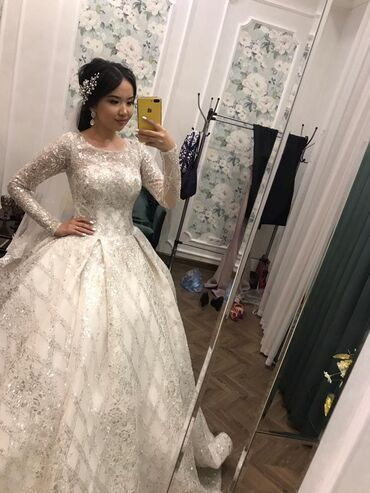 бу свадебное платье в Кыргызстан: Шикарные свадебные платья на прокат. Новые платья по 10000с + фата