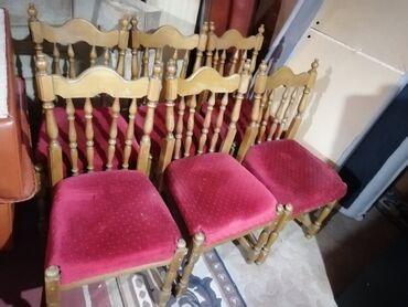 Frizerska stolica - Beograd: Set od 6 stolica, potrebno je dve da se utegnu, u dobrom stanju, za