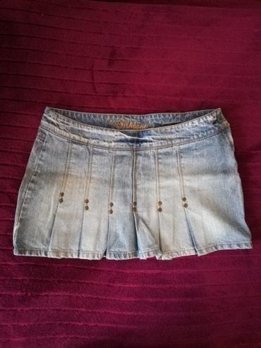 Suknja patrizia - Srbija: Fishbone mini teksas suknja S velicina. 100%pamuk.Poluobim struka