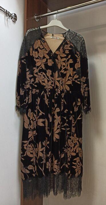 вечернее платье 52 54 размер в Кыргызстан: Продаю платье новое понбархат производство Турция последний размер
