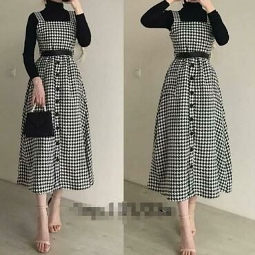платье с люрексом больших размеров в Кыргызстан: Продаю сарафан 42 44 46 размер 1300 с