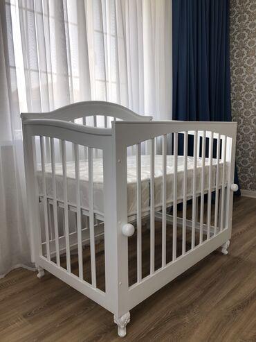 продам кресло кровать in Кыргызстан | ДИВАНЫ: Продаётся новый манеж для ребёнка. Сделано из чистого карагача,ручная