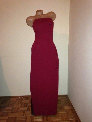 Duga haljina americi - Srbija: Haljina elegantna,kupljena u americi. Jednom nosena