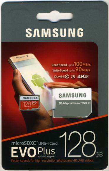 """sound card - Azərbaycan: Yaddaş kartı """"Samsung Evo Plus"""", 128GB100% orijinal """"Samsung EVO+"""""""