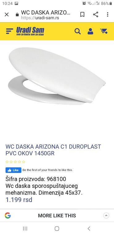 Arizona - Srbija: Daska za wc solju arizona c1. Nova, prodaje se jer je visak