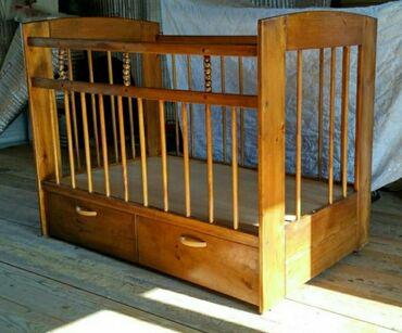 Детский мир - Таш-Мойнок: Кроватка чистое дерево ( изготавливалась на заказ ), не хватает 1 и